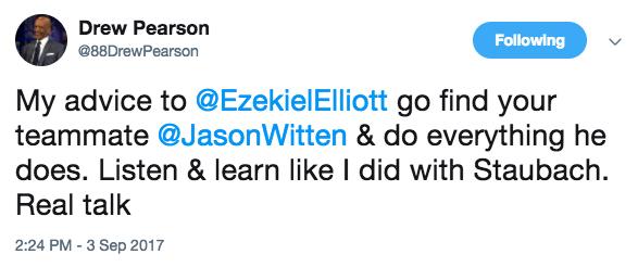 Drew Pearson tweet